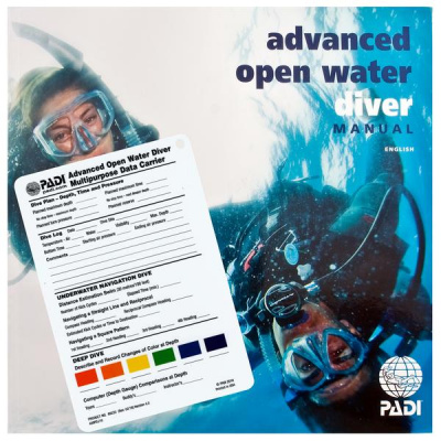 Учебник к курсу PADI Advanced Open Water Diver с планшетом